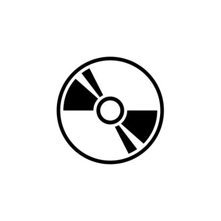 Compact Disc, DVD or CD Storage. Flat Vector Icon illustration. Simple black symbol on white background. Compact Disc, DVD or CD Storage sign design template for web and mobile UI element Archivio Fotografico - 106963263