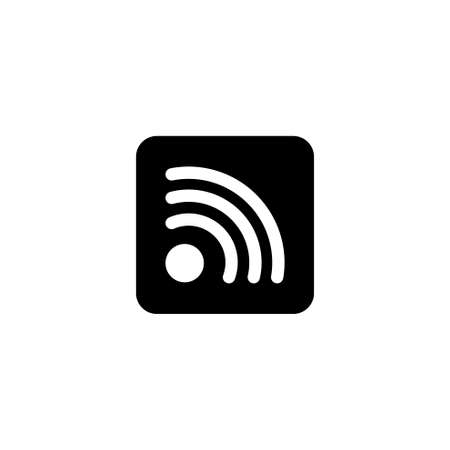 Wireless Internet WiFi, Social RSS. Flat Vector Icon illustration. Simple black symbol on white background. Wireless Internet WiFi, Social RSS sign design template for web and mobile UI element 版權商用圖片 - 106963268