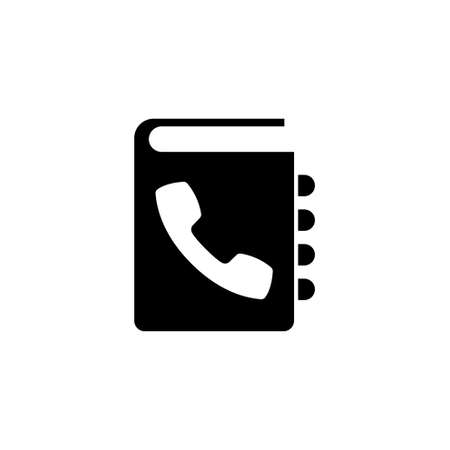 Phone Book. Flat Vector Icon illustration. Simple black symbol on white background. Phone Book sign design template for web and mobile UI element