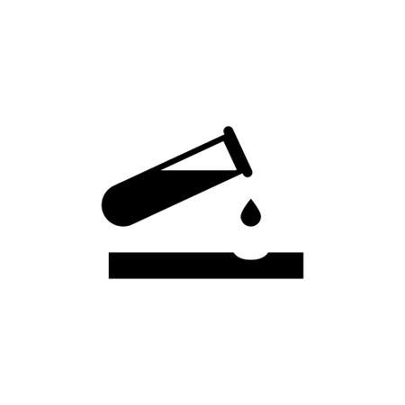 Caustic Chemicals Danger, Dripping Acid. Flat Vector Icon illustration. Stock Photo
