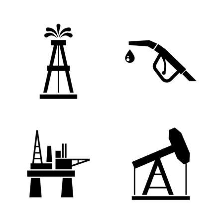 Barrel Oil Production. Simple Related Vector Icons Set for Video, Mobile Apps, Web Sites, Print Projects and Your Design. Barrel Oil Production icon Black Flat Illustration on White Background. 写真素材
