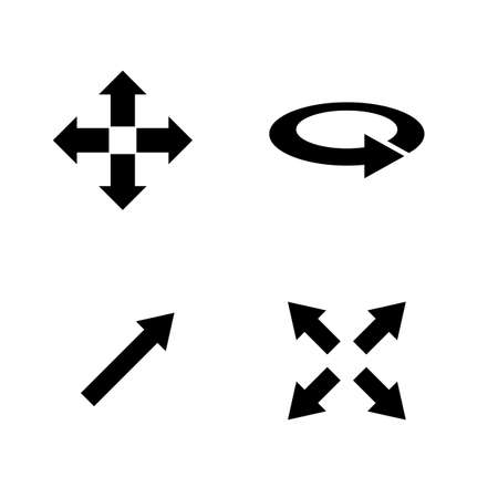 Rotate Arrow. Simple Related Vector Icons Set for Video, Mobile Apps, Web Sites, Print Projects and Your Design. Rotate Arrow icon Black Flat Illustration on White Background. Foto de archivo