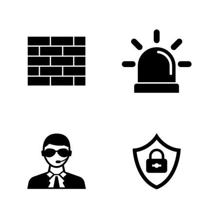 Security Safety. Simple Related Vector Icons Set for Video, Mobile Apps, Web Sites, Print Projects and Your Design. Security Safety icon Black Flat Illustration on White Background.