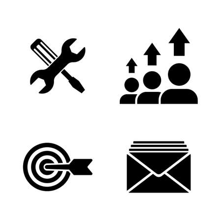 SEO Optimization. Simple Related Vector Icons Set for Video, Mobile Apps, Web Sites, Print Projects and Your Design. SEO Optimization icon Black Flat Illustration on White Background.