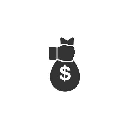 Robbery. Black Icon Flat on white background
