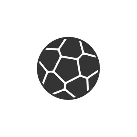 Soccer ball. Black Icon Flat on white background