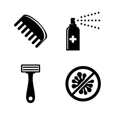 Protect, Hygiene, Cleanliness. Simple Related Vector Icons Set for Video, Mobile Apps, Web Sites, Print Projects and Your Design. Hygiene, Cleanliness icon Black Flat Illustration on White Background. Vettoriali