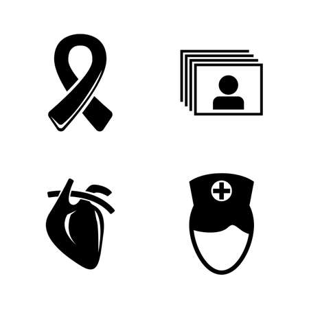 Medical Treatment, Medicine. Simple Related Vector Icons Set for Video, Mobile Apps, Web Sites, Print Projects and Your Design. Treatment, Medicine icon Black Flat Illustration on White Background.