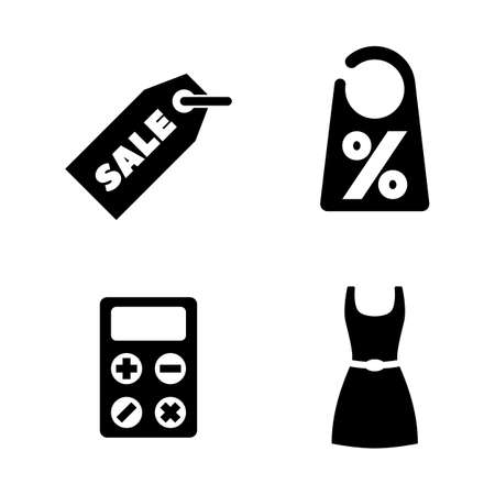 Shopping, Sale, Discount. Simple Related Vector Icons Set for Video, Mobile Apps, Web Sites, Print Projects and Your Design. Shopping, Sale, Discount icon Black Flat Illustration on White Background.