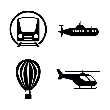 Transport, Transportation. Simple Related Vector Icons Set for Video, Mobile Apps, Web Sites, Print Projects and Your Design. Seasonal Tyre Fitting icon Black Flat Illustration on White Background.