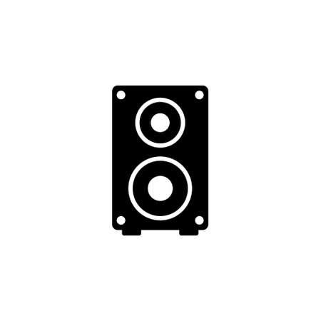 Studio Music Speaker, Audio. Flat Vector Icon illustration. Simple black symbol on white background. Studio Music Speaker, Audio sign design template for web and mobile UI element
