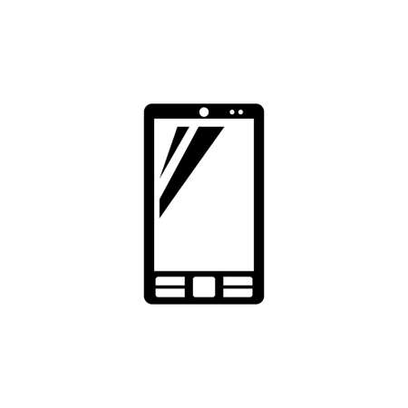 Smartphone, Cell Phone. Flat Vector Icon illustration. Simple black symbol on white background. Smartphone, Cell Phone sign design template for web and mobile UI element