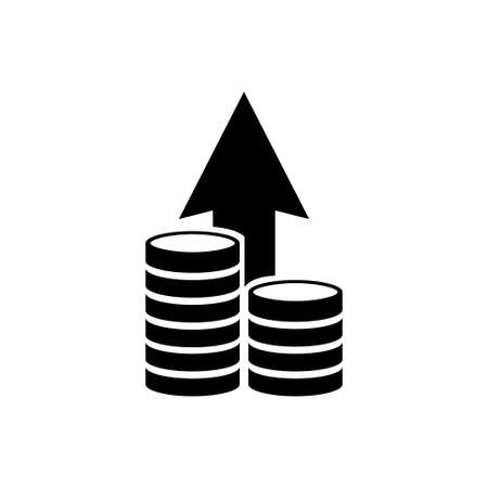 Financial Growth, Investment Strategy Plan. Flat Vector Icon illustration. Simple black symbol on white background. Financial Growth, Strategy Plan sign design template for web and mobile UI element