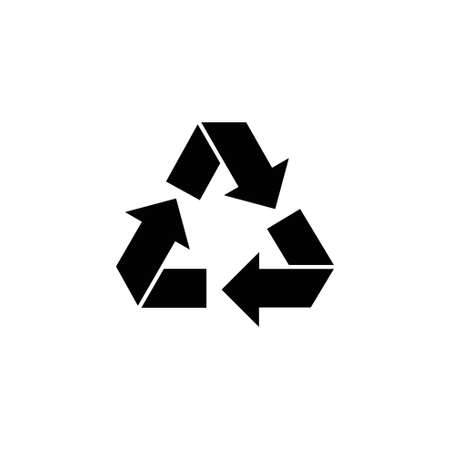 Recycle, Ecology Recycling. Flat Vector Icon illustration. Simple black symbol on white background. Recycle, Ecology Recycling sign design template for web and mobile UI element