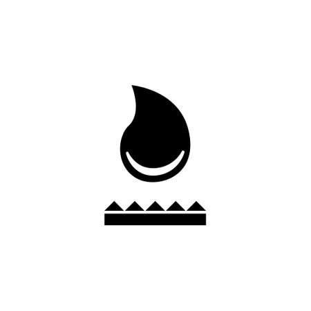 Oil, Water or Glue Drop. Flat Vector Icon illustration. Simple black symbol on white background. Oil, Water or Glue Drop sign design template for web and mobile UI element