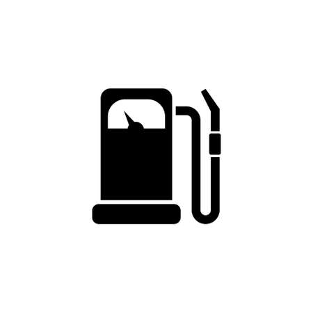 Gas Station, Gasoline Fuel, Petrol. Flat Vector Icon illustration. Simple black symbol on white background. Gas Station, Gasoline Fuel, Petrol sign design template for web and mobile UI element
