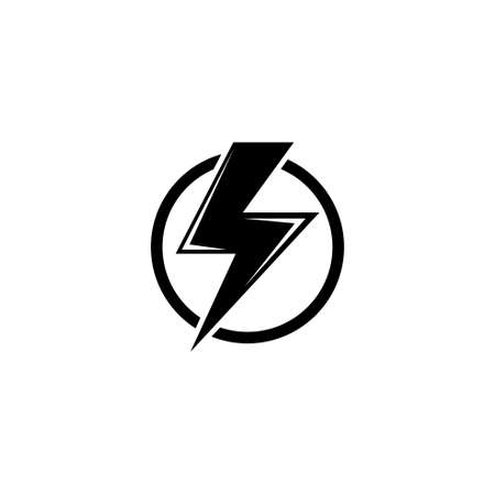 High Voltage, Electric Danger, Warning. Flat Vector Icon illustration. Simple black symbol on white background. High Voltage, Electric Danger Warning sign design template for web and mobile UI element Stockfoto - 129260610