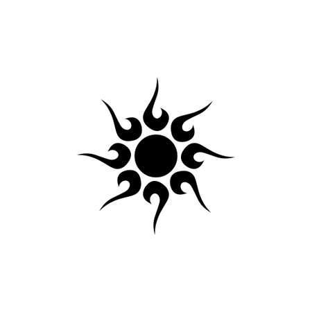 Solar Flare, Summer Sun, Sunlight Ray. Flat Vector Icon illustration. Simple black symbol on white background. Solar Flare, Summer Sun, Sunlight Ray sign design template for web and mobile UI element Stockfoto - 129260611