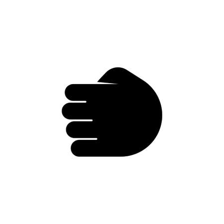 Punch, Clenched Fist, Power Hand. Flat Vector Icon illustration. Simple black symbol on white background. Punch, Clenched Fist, Power Hand sign design template for web and mobile UI element Stockfoto - 131398741