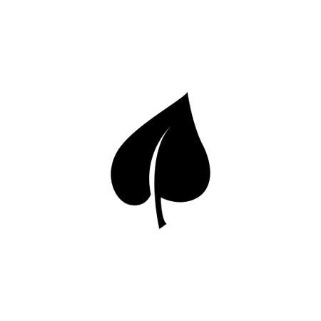 Leaf, Eco Organic, Nature Foliage. Flat Vector Icon illustration. Simple black symbol on white background. Leaf, Eco Organic, Nature Foliage sign design template for web and mobile UI element