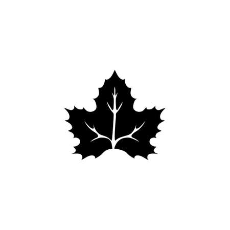 Canadian National Maple Leaf. Flat Vector Icon illustration. Simple black symbol on white background. Canadian National Maple Leaf sign design template for web and mobile UI element