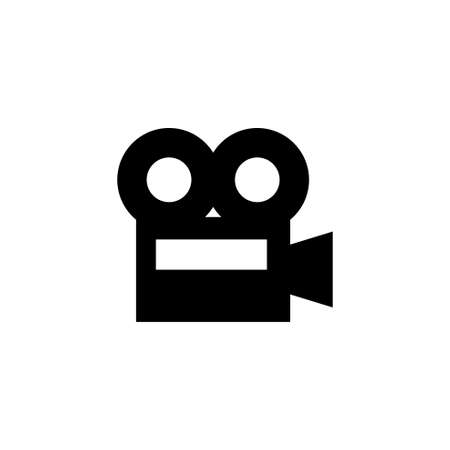 Film Camera, Video Recorder, Cinema. Flat Vector Icon illustration. Simple black symbol on white background. Film Camera, Video Recorder, Cinema sign design template for web and mobile UI element Stockfoto - 133693477
