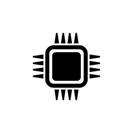 CPU, Processor, Microchip. Flat Vector Icon illustration. Simple black symbol on white background. CPU, Processor, Microchip sign design template for web and mobile UI element Stockfoto - 131601280