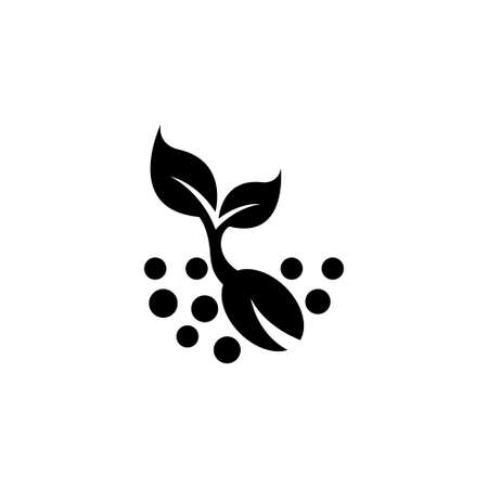 Plant Sprout, Sprouted Seed. Flat Vector Icon illustration. Simple black symbol on white background. Plant Sprout, Sprouted Seed sign design template for web and mobile UI element Stockfoto - 131601517