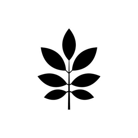 Leaf Branch, Nature Leaves Plant. Flat Vector Icon illustration. Simple black symbol on white background. Leaf Branch, Nature Leaves Plant sign design template for web and mobile UI element