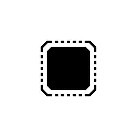 Processor Chip, Motherboard Microchip. Flat Vector Icon illustration. Simple black symbol on white background. Processor Chip, Motherboard Microchip sign design template for web and mobile UI element Stockfoto - 132873619