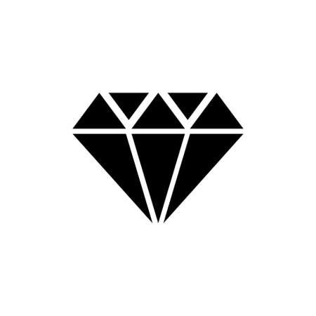 Diamond Stone, Gemstone, Jewel. Flat Vector Icon illustration. Simple black symbol on white background. Diamond Stone, Gemstone, Jewel sign design template for web and mobile UI element