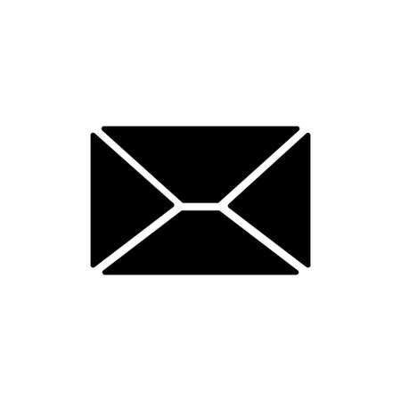 Email Message, Envelope Letter, Mailing. Flat Vector Icon illustration. Simple black symbol on white background. Email Message, Envelope Letter sign design template for web and mobile UI element