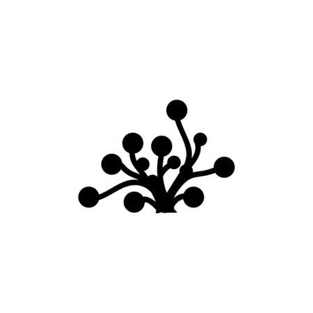 Underwater Seaweed. Aquatic Marine Algae Plant. Flat Vector Icon illustration. Simple black symbol on white background. Underwater Seaweed. Algae sign design template for web and mobile UI element