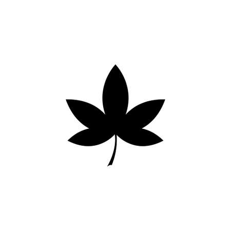 Liquidambar Leaf, Sweetgum, American Storax. Flat Vector Icon illustration. Simple black symbol on white background. Liquidambar, Sweetgum, Storax sign design template for web and mobile UI element Çizim