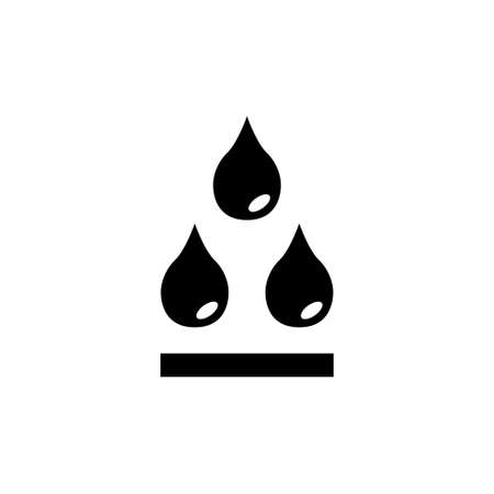 Water Drops, Rain Droplet, Raindrop Blob. Flat Vector Icon illustration. Simple black symbol on white background. Water Drop, Rain Droplet, Raindrop sign design template for web and mobile UI element
