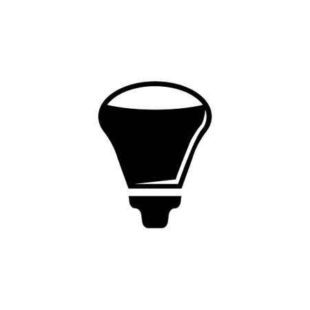 Led Light Bulb, Diode Eco Lamp, Lightbulb. Flat Vector Icon illustration. Simple black symbol on white background. Led Light Bulb, Diode Eco Lamp sign design template for web and mobile UI element Çizim