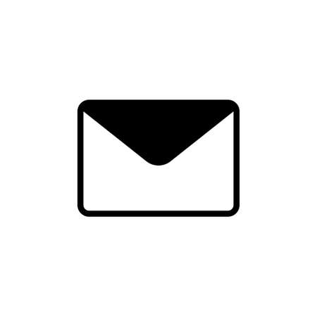 Envelope Mail, Feedback, Post Message. Flat Vector Icon illustration. Simple black symbol on white background. Envelope Mail, Feedback, Post Message sign design template for web and mobile UI element