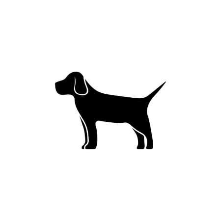 Thoroughbred Hound, Hunting Dog, Pet. Flat Vector Icon illustration. Simple black symbol on white background. Thoroughbred Hound, Hunting Dog, Pet sign design template for web and mobile UI element Stock Illustratie