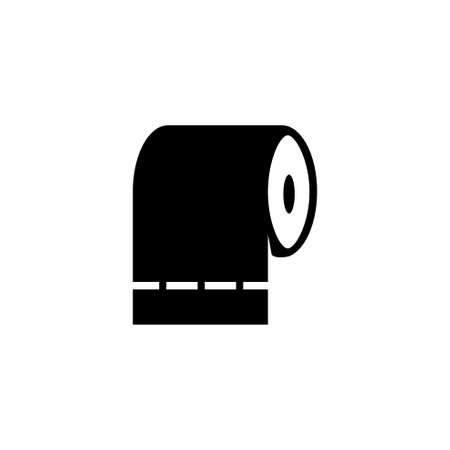 Toilet Tissue Paper Roll, Hygiene Napkins. Flat Vector Icon illustration. Simple black symbol on white background. Toilet Tissue Paper Roll, Napkins sign design template for web and mobile UI element
