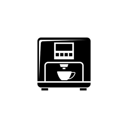 Professional Coffee Machine, Latte Maker. Flat Vector Icon illustration. Simple black symbol on white background. Professional Coffee Machine, Maker sign design template for web and mobile UI element