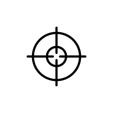 Target, Crosshair, Geo Positioning GPS. Flat Vector Icon illustration. Simple black symbol on white background. Target, Crosshair, Geo Positioning sign design template for web and mobile UI element