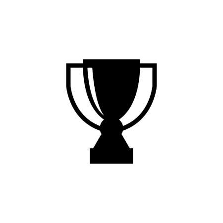 Gold Trophy Cup, Winner Award Prize. Flat Vector Icon illustration. Simple black symbol on white background. Gold Trophy Cup, Winner Award Prize sign design template for web and mobile UI element
