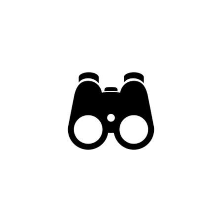 Optical Binoculars, Field Zoom Glasses. Flat Vector Icon illustration. Simple black symbol on white background. Optical Binoculars Field Zoom Glasses sign design template for web and mobile UI element