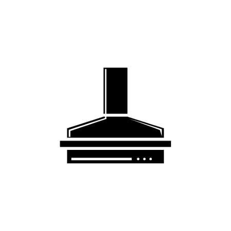 Kitchen Hood, Exhaust Range Air Filter. Flat Vector Icon illustration. Simple black symbol on white background. Kitchen Hood Exhaust Range Air Filter sign design template for web and mobile UI element