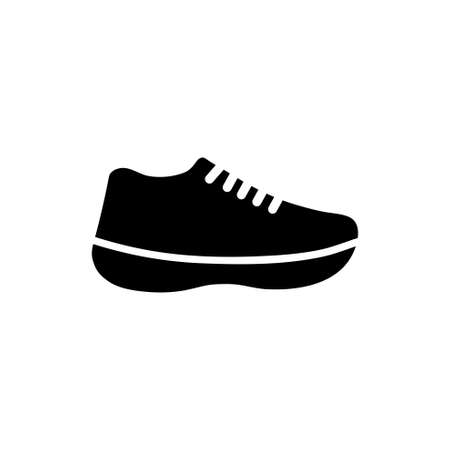 Running Sports Shoe, Fitness Sneakers. Flat Vector Icon illustration. Simple black symbol on white background. Running Sports Shoe, Fitness Sneakers sign design template for web and mobile UI element Illusztráció