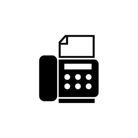 Telephone Fax Office Machine, Telefax. Flat Vector Icon illustration. Simple black symbol on white background. Telephone Fax Office Machine, Telefax sign design template for web and mobile UI element Illusztráció