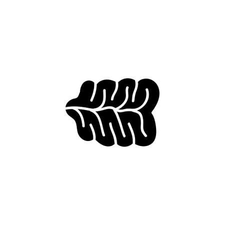 Human Nervous System, Receptor Organ. Flat Vector Icon illustration. Simple black symbol on white background. Human Nervous System, Receptor Organ sign design template for web and mobile UI element Stock Illustratie