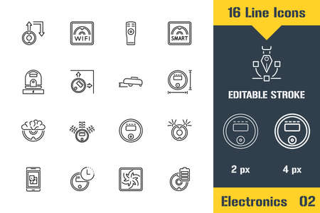 Smart House, Robot Vacuum Cleaner. Thin line icon - Outline flat vector illustration. Editable stroke pictogram. Premium quality graphics concept for web, logo, branding, ui, ux design, infographics