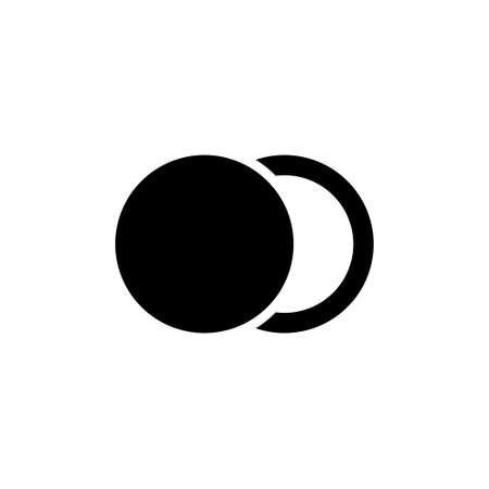Moon Phase, Astronomy Lunar Eclipse. Flat Vector Icon illustration. Simple black symbol on white background. Moon Phase, Astronomy Lunar Eclipse sign design template for web and mobile UI element