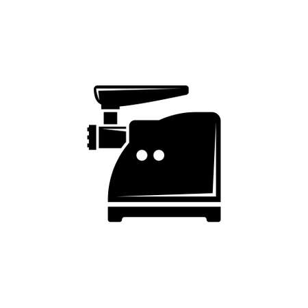 Meat Grinder, Electric Mincer, Chopper. Flat Vector Icon illustration. Simple black symbol on white background. Meat Grinder Electric Mincer Chopper sign design template for web and mobile UI element Ilustração